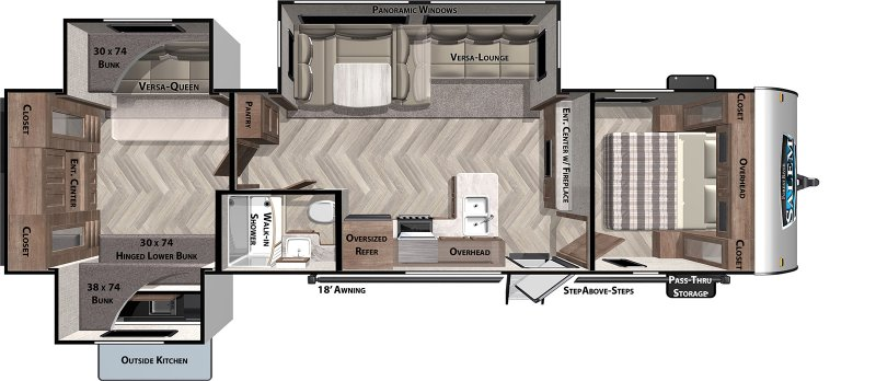 2021 FOREST RIVER SALEM 31KQBSS Floorplan