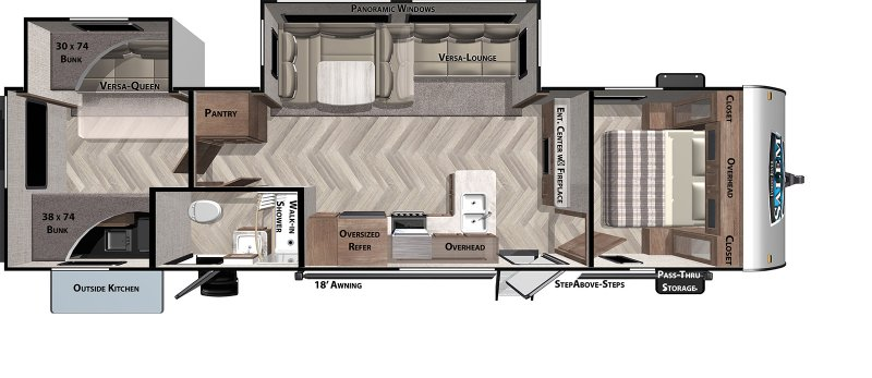 2021 FOREST RIVER Salem 32BHDS Floorplan
