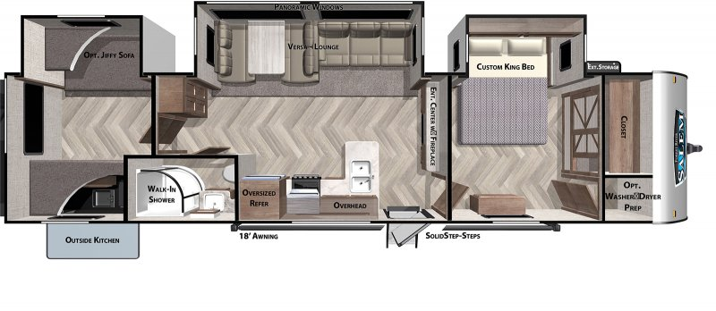 2021 FOREST RIVER Salem 33TS Floorplan