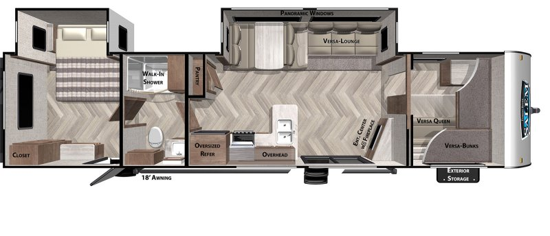 2021 FOREST RIVER SALEM 36VBDS Floorplan