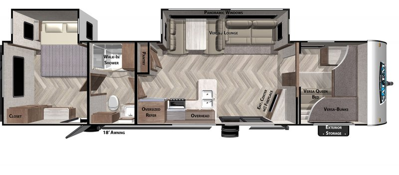 2020 FOREST RIVER SALEM 36VBDS Floorplan