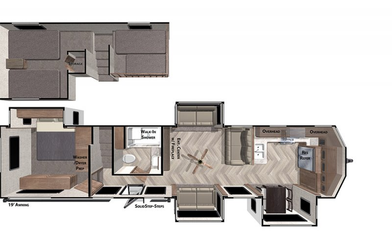 2020 FOREST RIVER Grand Villa 42FK Floorplan