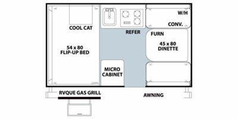 2014 ROCKWOOD A Frame 122ABH Floorplan