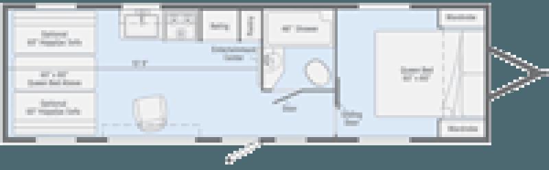 2020 WINNEBAGO Spyder 23FB Floorplan