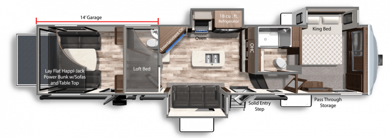 2022 DUTCHMEN VOLTAGE 3845 Floorplan