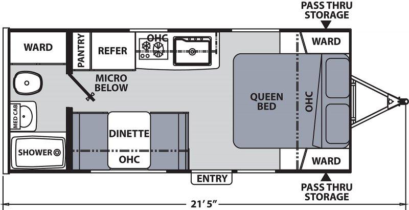 2021 COACHMEN APEX NANO 187RB Floorplan