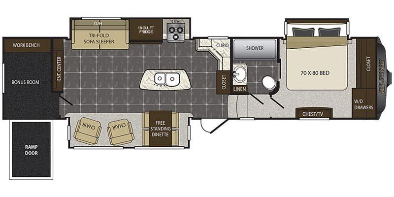 2017 KEYSTONE ALPINE 3901RE Floorplan