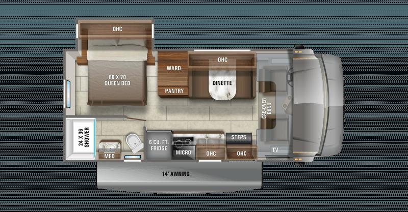 2021 JAYCO REDHAWK SE 22C Floorplan