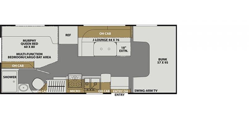 2022 COACHMEN FREELANDER 22XG Floorplan