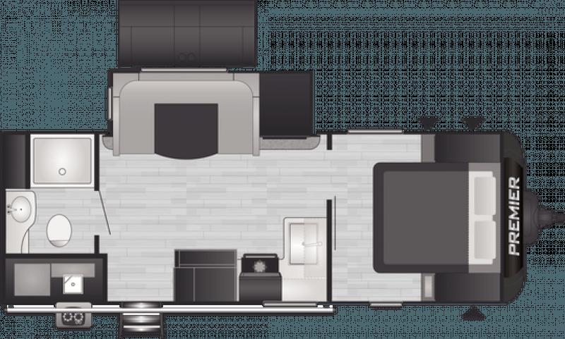 2021 KEYSTONE BULLET PREMIER 23RBPR Floorplan