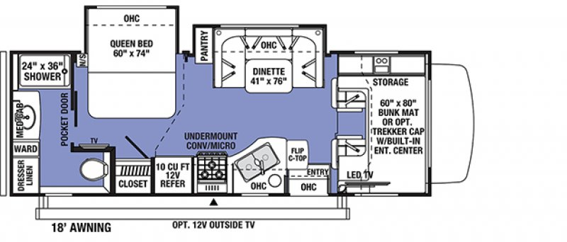 2021 FOREST RIVER SUNSEEKER CLASSIC 2440DS Floorplan