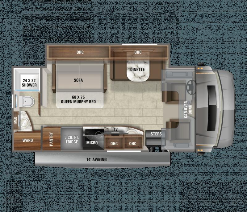 2021 JAYCO MELBOURNE PRESTIGE 24RP Floorplan
