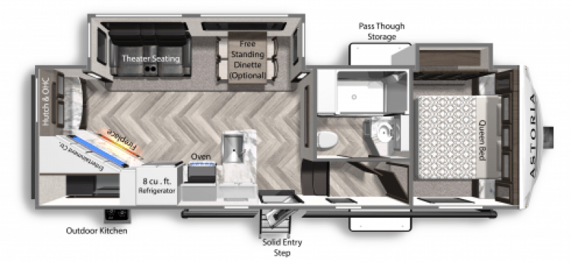 2021 DUTCHMEN ASTORIA 2503REF Floorplan