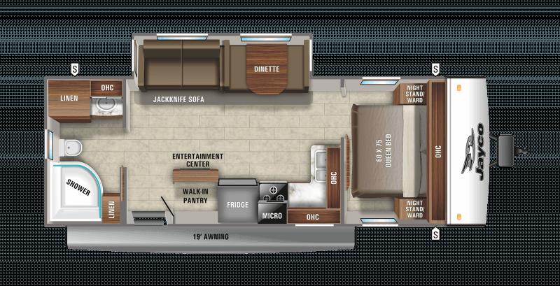 2021 JAYCO JAY FEATHER 25RB Floorplan