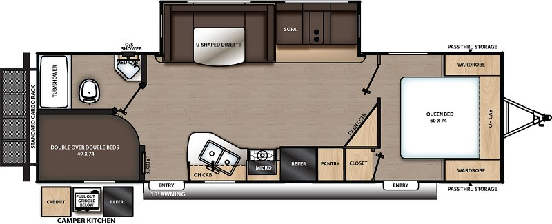 2021 COACHMEN CATALINA LEGACY EDITION 263BHSCK Floorplan