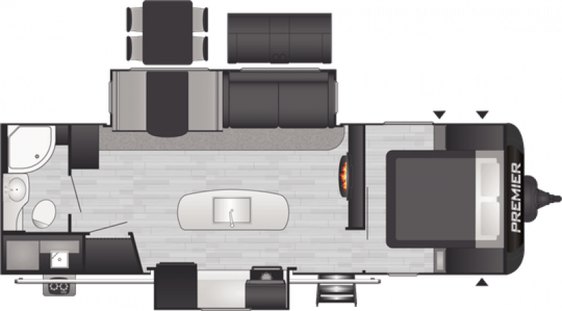 2021 KEYSTONE BULLET PREMIER 26RBPR Floorplan
