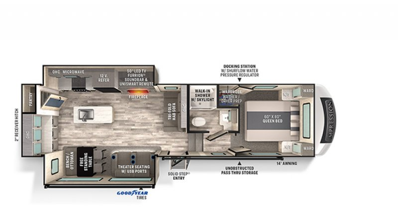 2021 FOREST RIVER IMPRESSION 270RK Floorplan