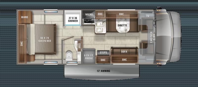 2021 JAYCO REDHAWK SE 27N Floorplan