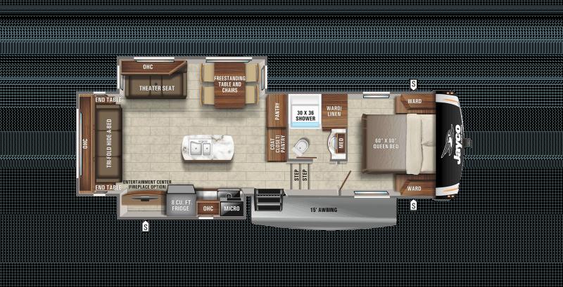 2021 JAYCO EAGLE HT 27RS Floorplan