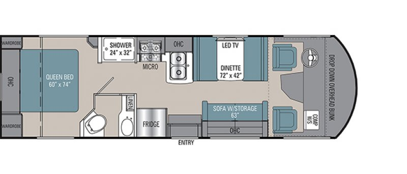 2021 COACHMEN PURSUIT 27XPS Floorplan