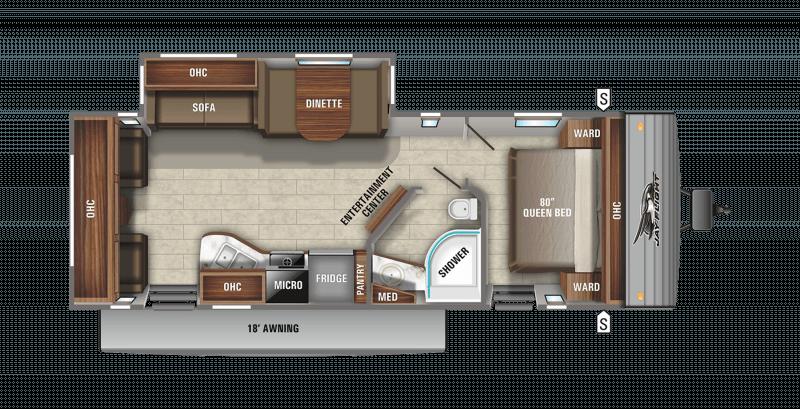 2021 JAYCO WHITE HAWK 28RL Floorplan