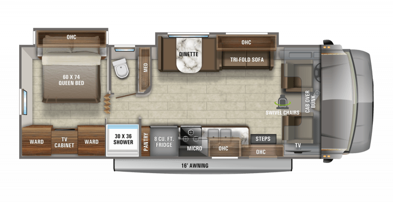 2021 JAYCO GREYHAWK 29MV Floorplan