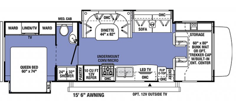 2021 FOREST RIVER SUNSEEKER CLASSIC 3010DS Floorplan