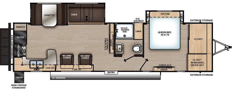 2021 COACHMEN CATALINA LEGACY EDITION 303RKDS Floorplan