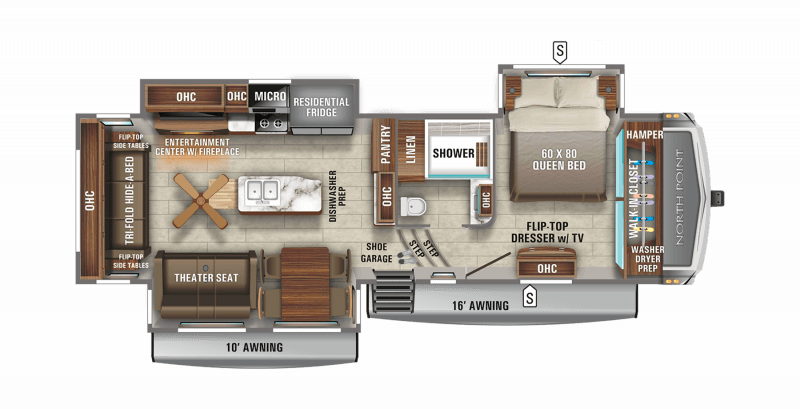2021 JAYCO NORTH POINT 310RLTS Floorplan