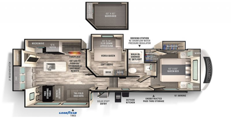 2021 FOREST RIVER IMPRESSION 315MB Floorplan