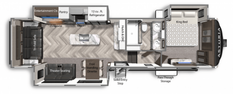 2021 DUTCHMEN ASTORIA 3173RLP Floorplan