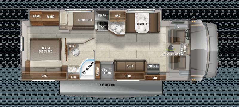 2021 JAYCO REDHAWK 31F Floorplan