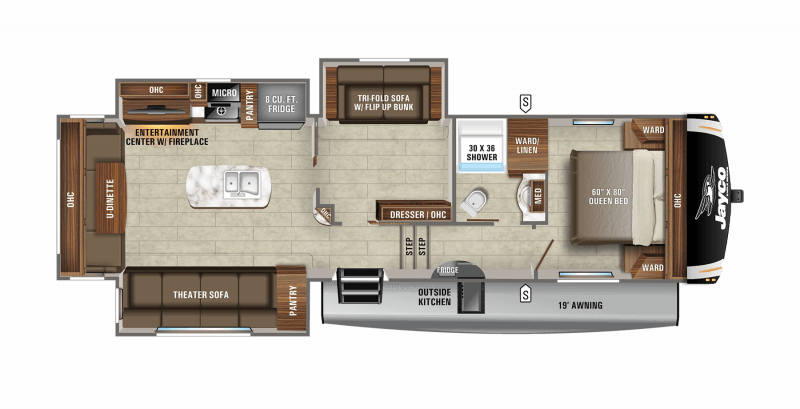 2021 JAYCO EAGLE HT 31MB Floorplan
