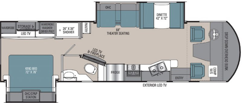 2021 COACHMEN PURSUIT 31TS Floorplan