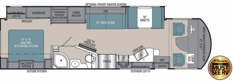 2021 COACHMEN ENCORE 325SS Floorplan