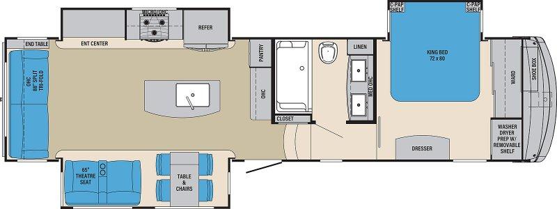 2021 PALOMINO COLUMBUS COMPASS 329DVC Floorplan