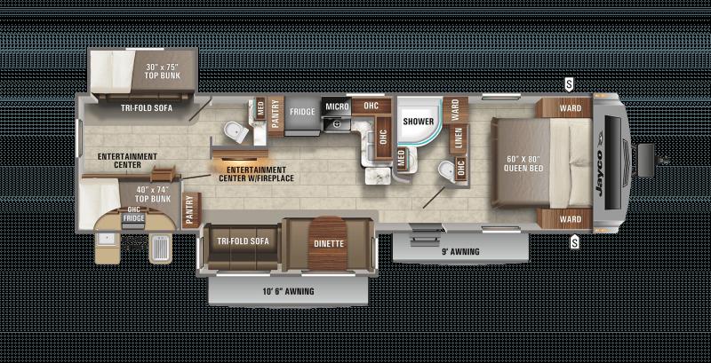 2021 JAYCO WHITE HAWK 32BH Floorplan