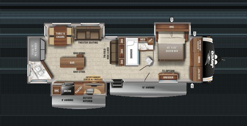 2021 JAYCO EAGLE 332CBOK Floorplan