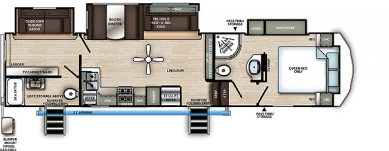 2021 FOREST RIVER SANDPIPER C CLASS 3330BH Floorplan