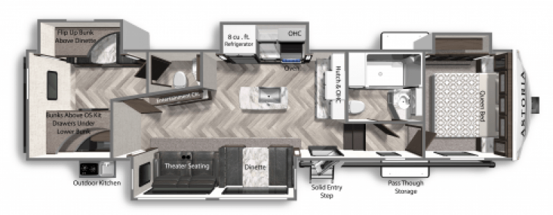 2021 DUTCHMEN ASTORIA 3343BHF Floorplan