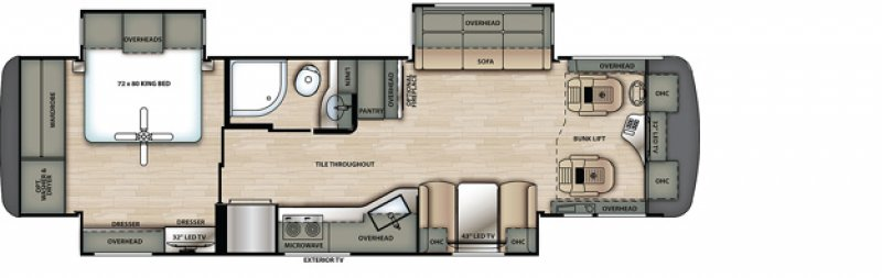 2021 FOREST RIVER BERKSHIRE 34B Floorplan