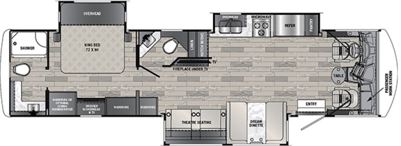 2021 FOREST RIVER GEORGETOWN 5 SERIES GT5 34H5 Floorplan