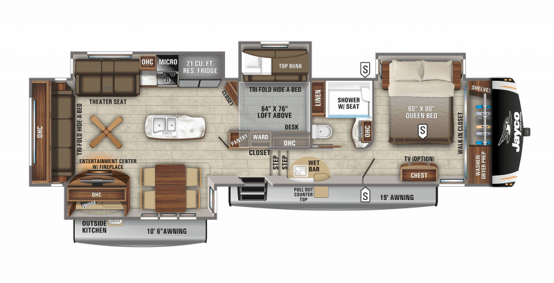 2021 JAYCO EAGLE 357MDOK Floorplan