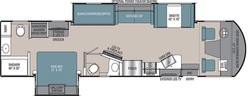 2022 COACHMEN MIRADA 35ES Floorplan