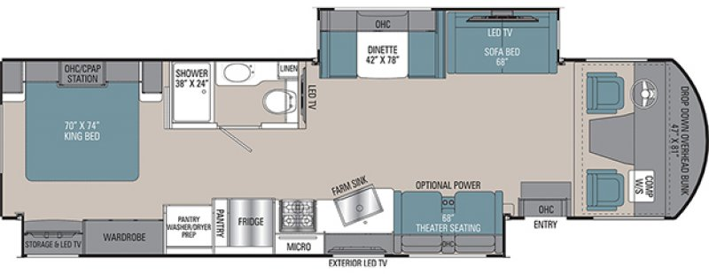 2021 COACHMEN MIRADA 35OS Floorplan