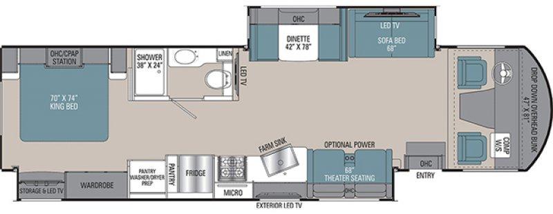 2021 COACHMEN MIRADA 35OS Floorplan