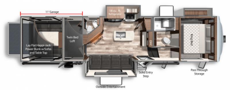 2021 DUTCHMEN VOLTAGE 3615 Floorplan
