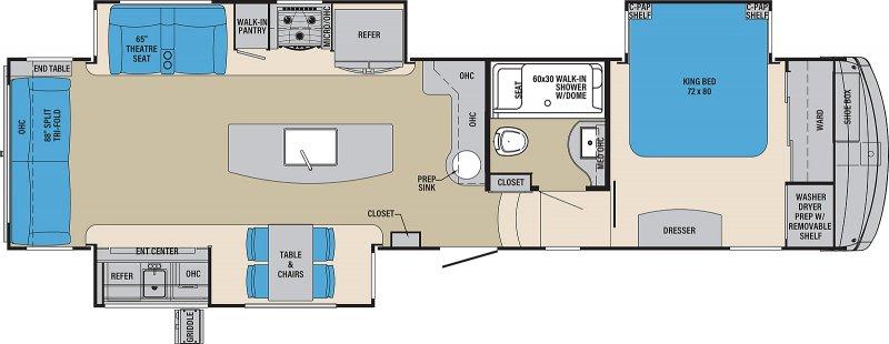 2021 PALOMINO COLUMBUS COMPASS 366RLC Floorplan