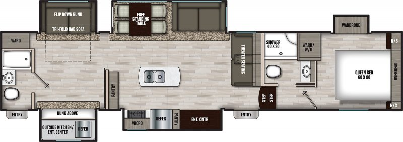 2021 COACHMEN CHAPARRAL 367BH Floorplan