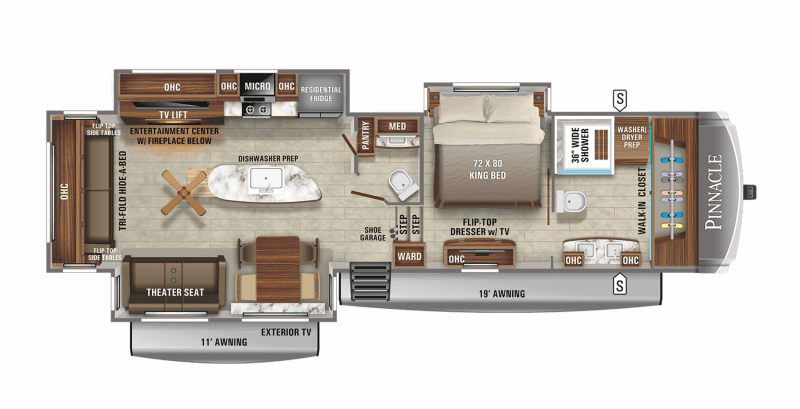 2021 JAYCO PINNACLE 36FBTS Floorplan